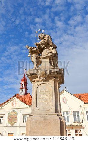 Statue Of St. John Of Nepomuk In Brandys Nad Labem