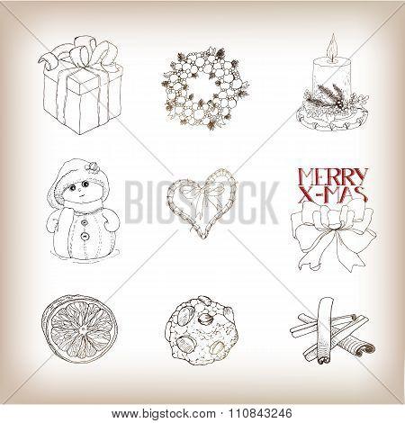 Christmas  Drawn Bundle