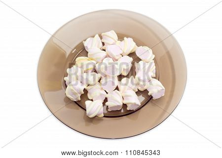 Marshmallow On A Glass Dish