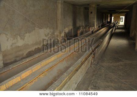 concentration camp bathroom