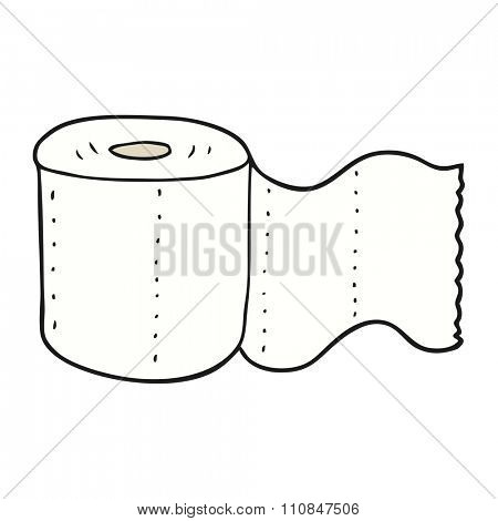 freehand drawn cartoon toilet paper