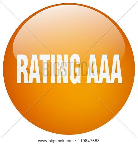 Rating Aaa Orange Round Gel Isolated Push Button