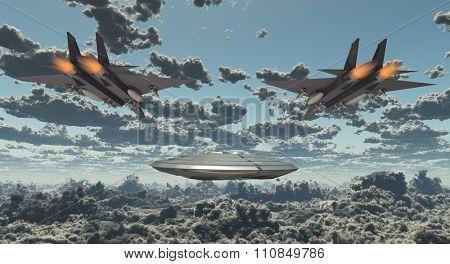 Military Jets Pursue UFO