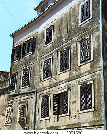 Old building frontage in Croatia