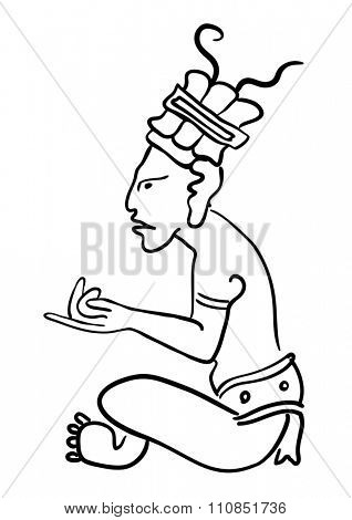 Maya Image of the ancient Deity