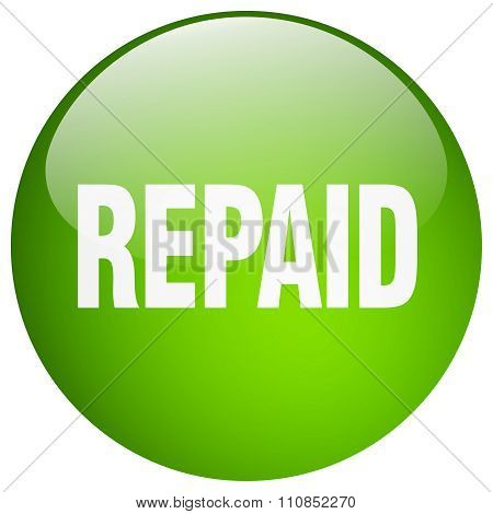 Repaid Green Round Gel Isolated Push Button