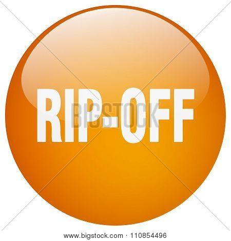 Rip-off Orange Round Gel Isolated Push Button