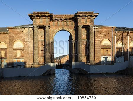 Arch Vallin de la Mothe. New Holland Island, St. Petersburg. Russia.