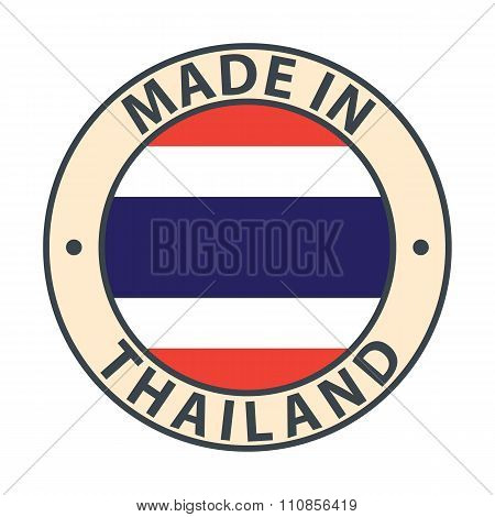 Made in Thailand badge with flag