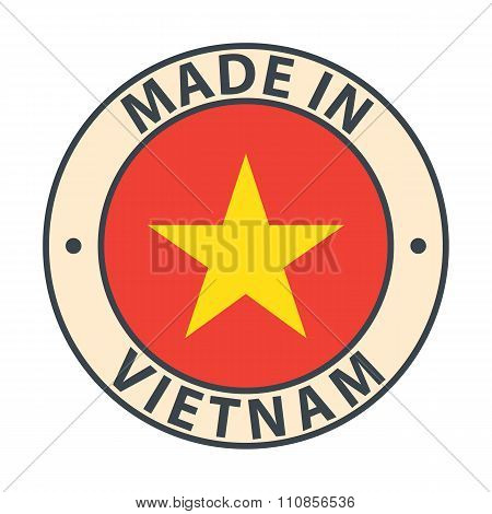 Made in Vietnam badge with flag