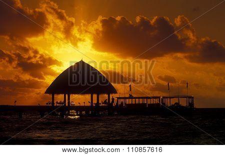 Asia Indian Ocean Maldives Seascape Bungalow