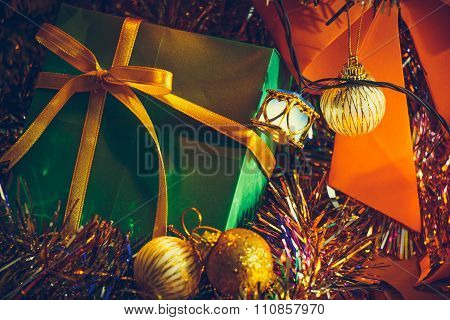 Gifts & presents and Ornament Christmas decorate at Merry Christmas and happy new year