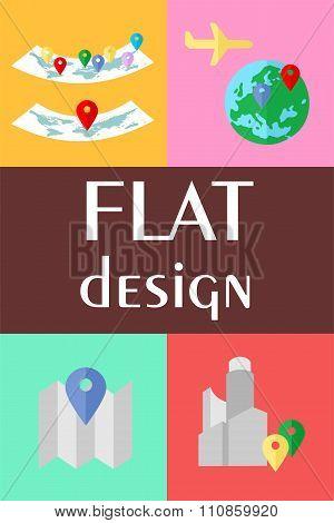 Icons Maps Set
