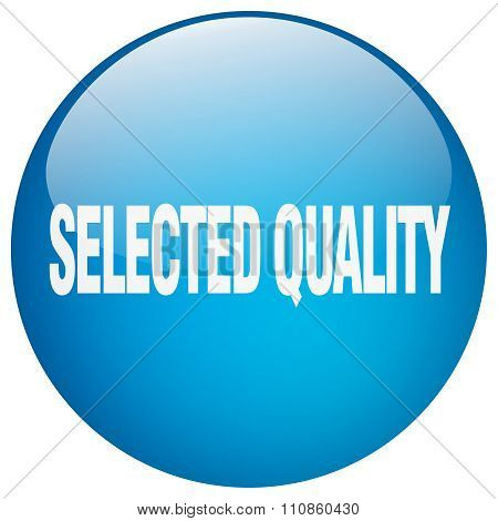 Selected Quality Blue Round Gel Isolated Push Button