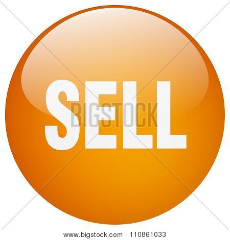 Sell Orange Round Gel Isolated Push Button
