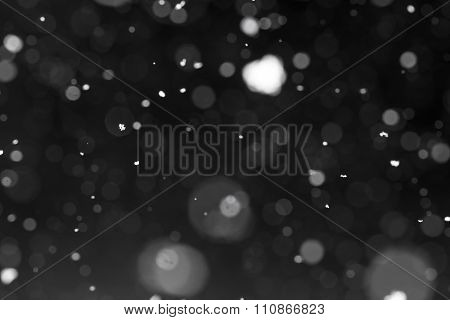 Snow Falling From Night Sky