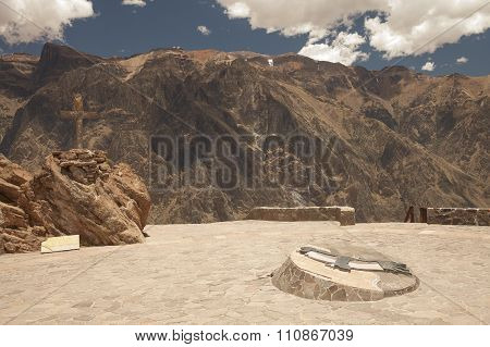 Lookout Point For Watching Condors In Colca, Arequipa, Peru