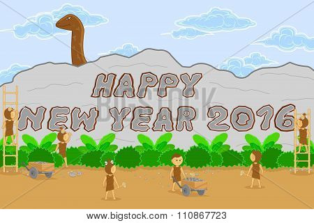 Retro Style Background Of Happy New Year 2016