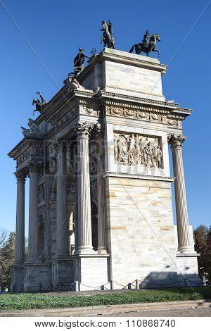 Milan (italy): Arco Della Pace