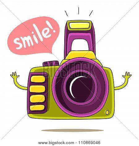 Green Cute camera says