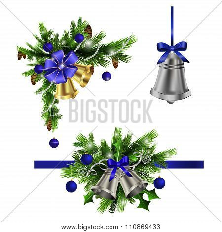Christmas elements for your designs blue