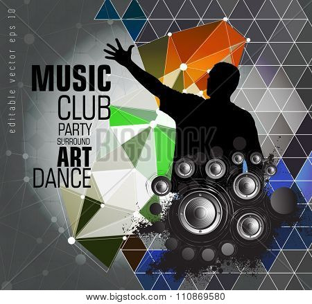 Music performance, vector