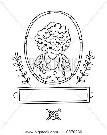 Contour drawing grandmother