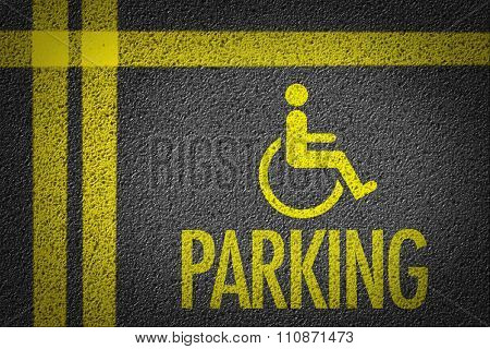 Handicapped Parking in a parking lot