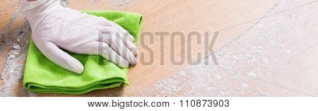 Using A Cloth