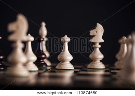 Chess. White Pawns Vs Black