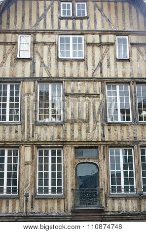 half-timbered house in Troyes
