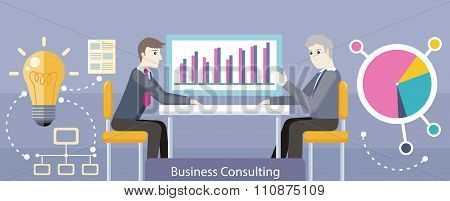 Business Consulting Design Flat