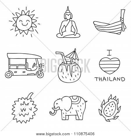 Thailand vector icons