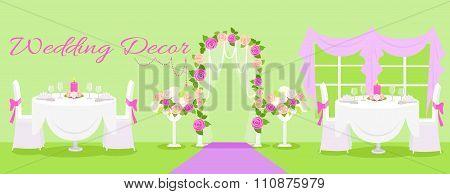 Wedding decor fashion interior