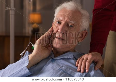 Elderly Man Suffering From Dementia