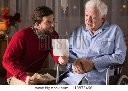 Private Carer And Elderly Man