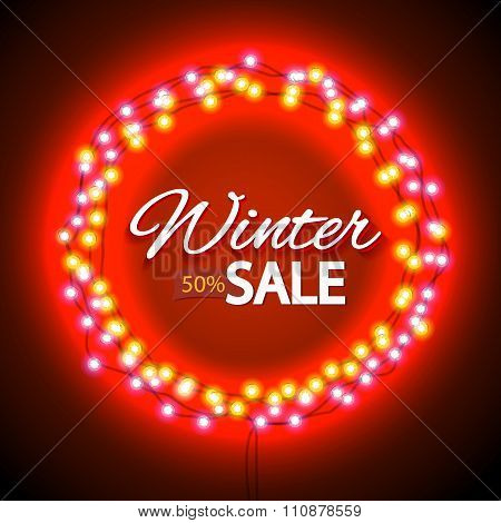 Winter sale lights frame