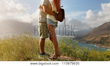 Loving Young Couple Embracing
