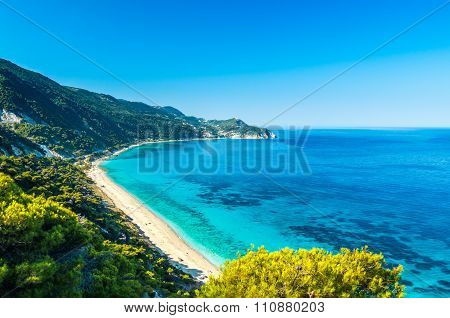 Agios Nikitas Beach In Lefkada Island, Greece - Ionian Islands