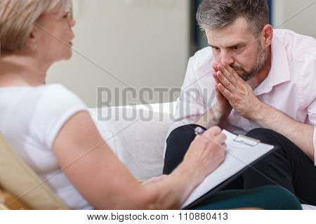 Psychiatrist Supporting Her Patient
