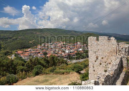View From Platamonas Castle To New Panteleimon, Nea Paneleimonas, Greece