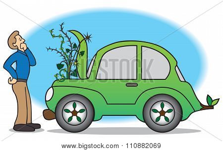 Green Car Breakdown