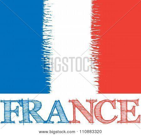 vector abstract France flag