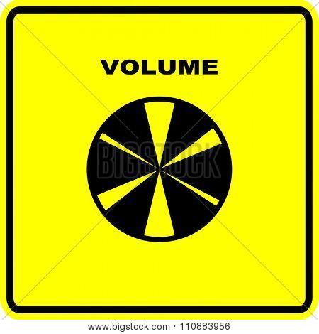 volume knob sign