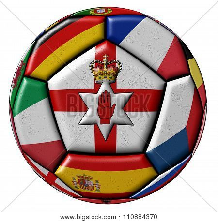Ball With Flag Of Northen Ireland In The Center
