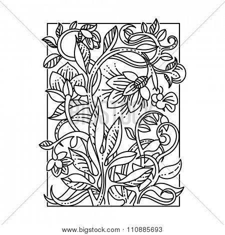 Vintage floral design elements. Good for menu, notebook cover, packaging or greetings card decoration.