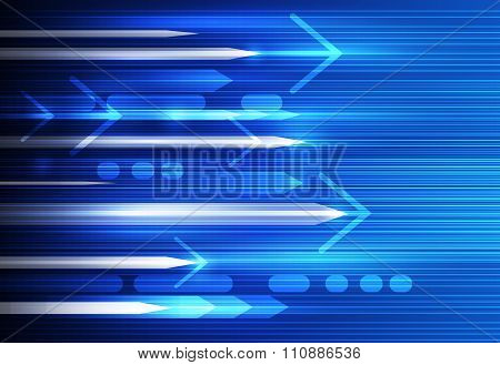 Abstract Speed And Motion Blur. Science futuristic energy technology background
