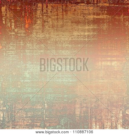 Old grunge antique texture. With different color patterns: yellow (beige); brown; red (orange); cyan