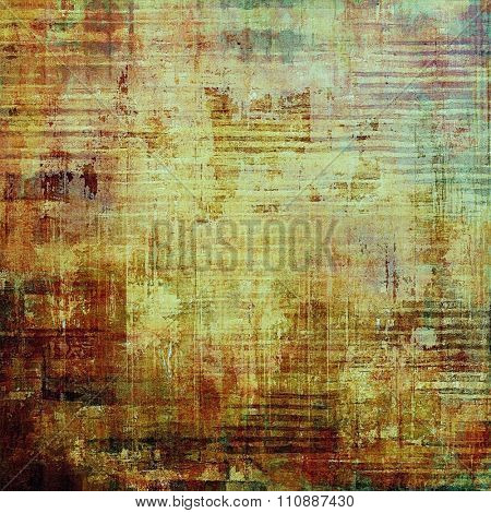 Abstract grunge background. With different color patterns: yellow (beige); brown; green; cyan