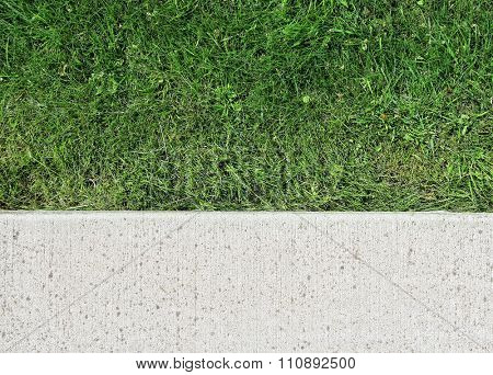 image from exterior texture background series (stone, cement, concrete, rock with grass strip)